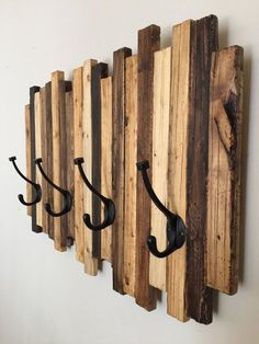 Coat Rack  Wood Art by standardwoodco on Etsy
