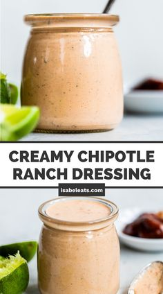 This super easy and creamy Chipotle Ranch Dressing is a great way to add Mexican flavors to your favorite dishes! Use it as a simple salad dressing or drizzle it on tacos, nachos, burritos, and enchiladas! Give this recipe a try! #chipotleranchdressing Mexican Cooking, Mexican Food Recipes, Ranch Dressing Ingredients, Chipotle Ranch Dressing, Clean Eating Dinner, Homemade Sauce, Easy Salads, Mexican Dishes, Enchiladas