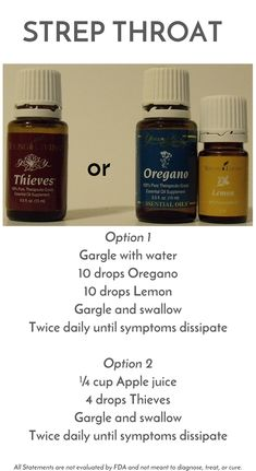 Our family recipes using essential oils alphabetically arrange. Essential Oils Strep Throat, Oils For Sore Throat, Doterra Essential Oils, Essential Oil Blends, Cure For Strep Throat, Strep Throat Remedies Natural, Young Living Oils, Young Living Essential Oils, Yl Oils