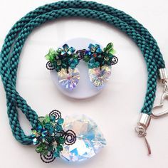 Ocean Blue Jewelry SetBlue Green JewelrySwarovski by PastelGems