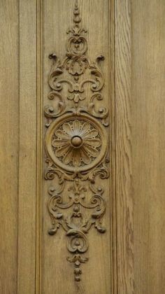Intricately scrolled woodwork