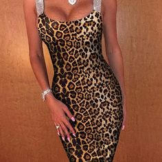 Leopard Above Knee Print Sleeveless Pullover Womens Dress online shopping mall, buying fashion dresses & rapid delivery. Start your amazing deals with big discounts! Ashley Clothes, Sexy, Short Cocktail Dress, Mi Long, Cheap Dresses, Jumpsuits For Women, Evening Dresses, Ideias Fashion, Leopard Prints