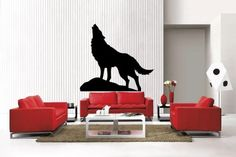 Newclew HUGE HOWLING WOLF silhouette removable Vinyl Wall Decal Home Décor Large Decalgeek http://smile.amazon.com/dp/B00C2C2QF6/ref=cm_sw_r_pi_dp_ntIdub0W4TWVA