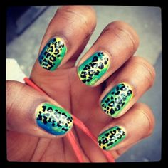 Tropical Leopard from Fabulous Nail Art