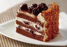 Tort caramel cu vişine şi cremă de iaurt Dessert Cake Recipes, Sweet Desserts, Food Cakes, Biscotti, Nutella, Tiramisu, Cheesecake, Food And Drink, Cooking Recipes
