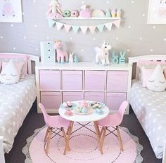 Create a luxurious and unique decoration for the kids' room with these pink themed projects. Discover more at circu.net #GirlsBedroom
