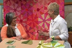 Sewing With Nancy guest, Judy Gauthier shares her method for sorting, storing and creating Rainbow Quilts with fabric scraps with Nancy Zieman on today's NEW episode. Machine Quilting Patterns, Hand Quilting, Quilt Patterns, Quilting Tutorials, Quilting Projects, Quilting Ideas, Hexagon Quilt Pattern, Couture Sewing Techniques, Sewing With Nancy
