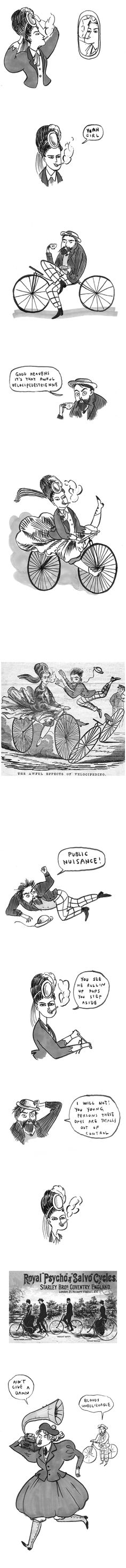 velocipede - I love Kate Beaton. And I love this comic especially. I wish she made prints of it.