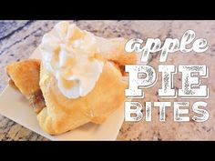 Quick and easy apple pie bites, DIY homemade apple pie, quick apple pie recipe Quick Apple Pie Recipe, Apple Crisp Recipes, Desert Recipes, Fall Recipes, Homemade Apple Crisp, Apple Pie Bites, Best Food Ever, Deserts, Easy