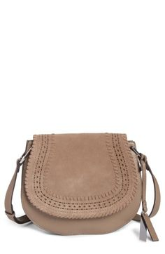 Vince Camuto Kirie Suede & Leather Crossbody Saddle Bag (Nordstrom Exclusive)   Nordstrom