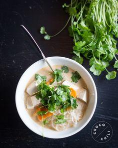 Vegan Tofu Noodle Soup | Chocochili