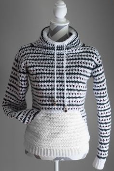 Ravelry: The Stella Pullover pattern by Kayla NorrisThis is a fun, quick and easy crochet project for all levels! Find the pattern in my Etsy shop: highinfibrecroc Crochet Shirt, Crochet Cardigan, Crochet Top, Crochet Hats, Crochet Sweaters, Crochet Beanie, Crochet Bodycon Dresses, Black Crochet Dress, Ravelry