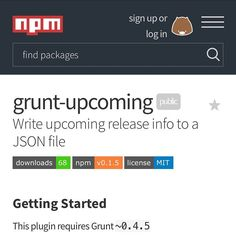 today i published a grunt plugin grunt upcoming it generates a file