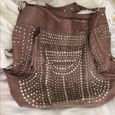 Shoulder bag Shoulder bag with stones embedded on front. Lots of storage. Good condition. Bags Shoulder Bags