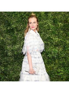 Prettiest Instagrams of the Week: Diane Kruger's half-up hairstyle, pink lipstick, and Chanel dress at MoMA's annual film benefit. | allure.com