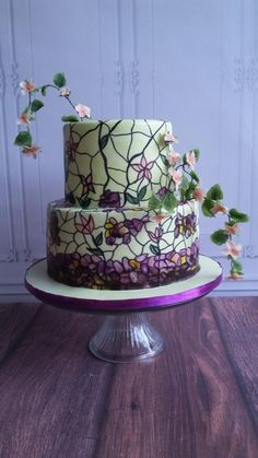My first stained glass cake - Cake by Claudine - Francine's Sweet Treats