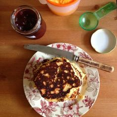 Gluten free and grain free, these almond pancakes are great with jam, maple syrup or fresh fruit.