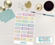 Pinning for later! These stickers are perfect. Available at Crafted By Corley on Etsy. Medicine Weekly Tracker Stickers - Medical Stickers Pill Planner Planner Stickers Weekly Medicine for use with ERIN CONDREN LifePlanner by CraftedByCorley