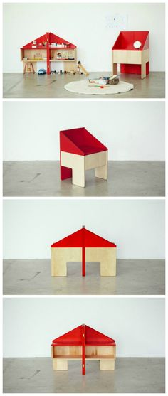 Dollhouse Chair: a stylish chair + dollhouse+ storage