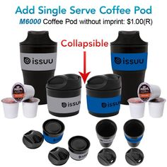 High Caliber Line - New: The Caffe Misto Collapsible Tumbler #S916