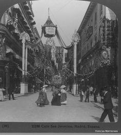 Historias matritenses: El asfalto de Madrid y otros pavimentos- 1906 Carrera de San Jerónimo asfaltada.