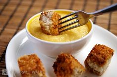 Coconut tofu poppers with a mango chili cream. YUM!!