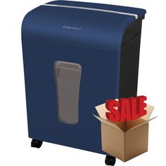 Embassy® 12 Sheet Microcut Paper Shredder LM120Piv-R Blue OPEN BOX