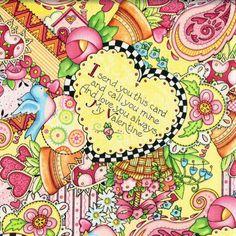 New  My Valentine  Mary Engelbreit   Half Yard by BywaterFabric