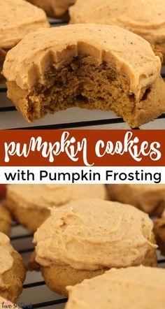 Pumpkin Recipes, Fall Recipes, Sweet Recipes, Holiday Recipes, Yummy Cookies, Yummy Treats, Sweet Treats, Baby Cookies, Heart Cookies