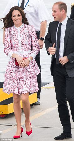 The Duke and Duchess of Cambridge arrived by 'float plane' into Vancouver on the first full day of their eight-day tour of Canada.