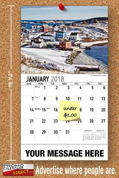 2021 Atlantic Canada Wall Calendars with your Business Name & Logo - low as Advertise in the homes and offices of people in your area all year! Marketing Approach, Atlantic Canada, Viral Marketing, Promote Your Business, Your Message, Calendar, Business Organization, Messages, Advertising
