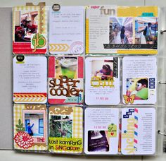 Most of these cards are just plain grid cards, but with a couple of simple embellishments they look fabulous!