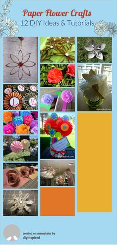 Love these paper flower crafts!