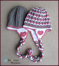 My Valentine Beanie By Amber Schaaf - Free Crochet Pattern - Adult And Child Sizes - (ravelry) Pink and grey are very popular at the moment. Bonnet Crochet, Crochet Cap, Crochet Beanie, Crochet Stitches, Free Crochet, Crochet Patterns, Simple Crochet, Hat Patterns, Crochet Afghans