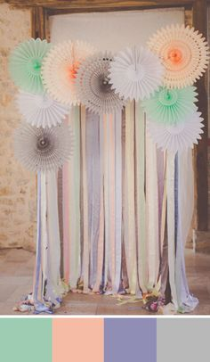 This combination of pretty pastel shades is perfect for a backyard garden wedding  Source: wedding chicks #gardenwedding #pastelshades
