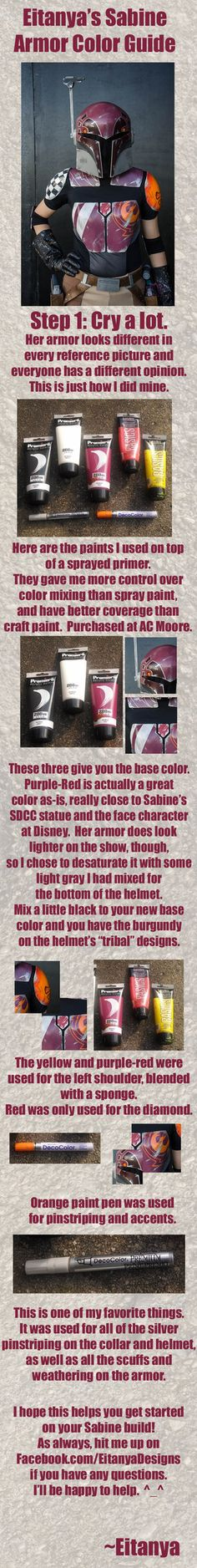Eitanya's guide to Sabine armor colors by eitanya on DeviantArt