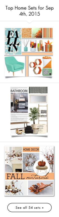 """""""Top Home Sets for Sep 4th, 2015"""" by polyvore ❤ liked on Polyvore featuring interior, interiors, interior design, home, home decor, interior decorating, CB2, Surya, Thibaut and Verner Panton"""