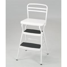 Shop Cosco Home and Office Products  11130WHTE Retro Counter Chair / Step Stool with Lift-up Seat at ATG Stores. Browse our bar stools, all with free shipping and best price guaranteed.
