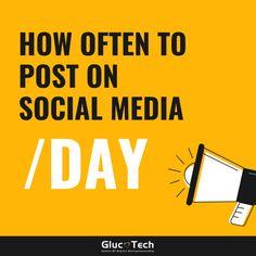 HOW OFTEN TO POST ON SOCIAL MEDIA | GLUCOTECH Social Media, Photo And Video, Videos, Instagram, Social Networks, Social Media Tips