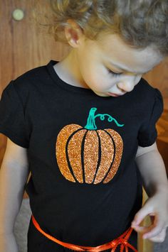 Pumpkin T-shirt with Freezer Paper Tutorail via This Heart of Mine