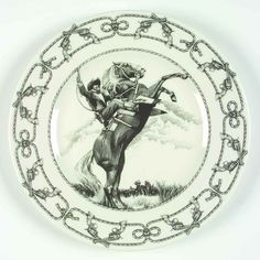222 Fifth SLICE OF LIFE Cowboy Dinner Plate 5932468 #222Fifth