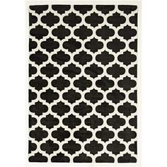 Trellis Stylish Design Rug in Black - 280x190cm - Contemporary Rugs