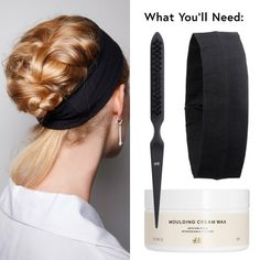 The Fuss-Free French Braid - Don't know what to do with your hair on vacation? This humidity-proof, shower-proof French braid is liable to hold up for days if you need it to. Use a molding cream to create a tight French braid from the front to the nape of your neck. Using the pick end of a comb, pull hair one plait at a time to loosen the braid and back comb for added texture. Slide on a headband to keep it in place all day(s).