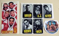 Backstreet Boys BSB sticker collection from Bravo magazine 1990's