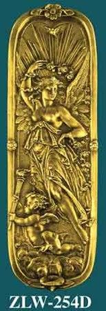 Figural Door Pushplate Goddess Of Day (ZLW-254D)
