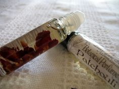 Patchouli fragrance roll on perfume oil... Herbal Perfume. Botanical perfume. FREE SHIPPING when ordered with another item