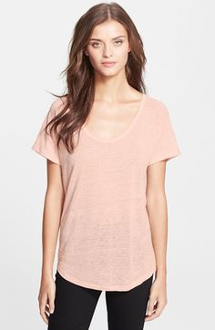 Joie 'Pascale' Linen & Silk Tee available at #Nordstrom