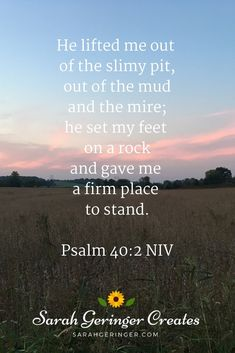 If you are facing depression, Psalm 40 can give you the hope you need in God to find your way out of the pit. Inspirational Verses, Motivational Scriptures, Biblical Quotes, Faith Quotes, Bible Quotes, Hope In Jesus, Psalm 40, Christian Meditation, Meditation For Beginners