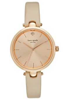 Holland, Kate Spade New York, Gold Watch, Omega Watch, Cream, Leather, Blush, Accessories, Spring