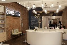 A view of Mirror: The Hair Salon at Carol's Daughter in New York.